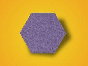 Huopapintainen äänenvaimennuslevy Hexagon