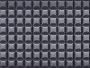 Erikoisvalmisteinen duromeeri-akustiikkavaahtomuovi, jossa kennoprofiili